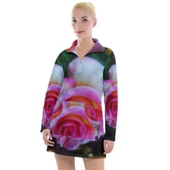 Spiral Rose Women s Hoodie Dress