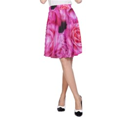 Pink Roses A Line Skirt