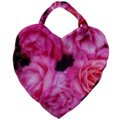 Pink Roses Giant Heart Shaped Tote