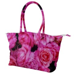 Pink Roses Canvas Shoulder Bag