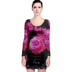 Bunches Of Roses (close Up) Long Sleeve Bodycon Dress