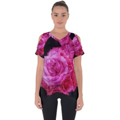 Bunches Of Roses (close Up) Cut Out Side Drop Tee
