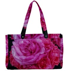 Bunches Of Roses (close Up) Canvas Work Bag
