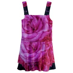 Bunches Of Roses (close Up) Kids  Layered Skirt Swimsuit