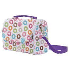 Donut Pattern With Funny Candies Satchel Shoulder Bag by genx