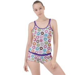 Donut Pattern With Funny Candies Boyleg Tankini Set  by genx