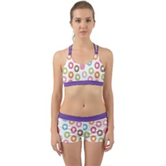 Donut Pattern With Funny Candies Back Web Gym Set by genx