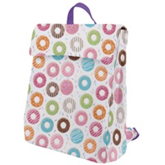 Donut Pattern With Funny Candies Flap Top Backpack by genx