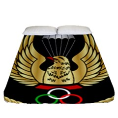 Iranian Army Freefall Parachutist 3rd Class Badge Fitted Sheet (queen Size) by abbeyz71