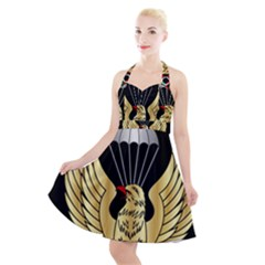 Iranian Army Freefall Parachutist 3rd Class Badge Halter Party Swing Dress  by abbeyz71