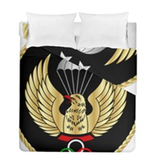 Iranian Army Freefall Parachutist 2nd Class Badge Duvet Cover Double Side (full/ Double Size) by abbeyz71