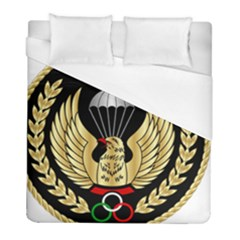 Iranian Army Parachutist Freefall Master 2nd Class Badge Duvet Cover (full/ Double Size)