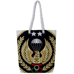 Iranian Army Parachutist Freefall Master 2nd Class Badge Full Print Rope Handle Tote (small) by abbeyz71