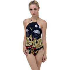 Iranian Army Parachutist Freefall Master 2nd Class Badge Go With The Flow One Piece Swimsuit by abbeyz71