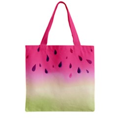 Watermelon Pastel Gradient Pink Watermelon Pastel Gradient Grocery Tote Bag by genx
