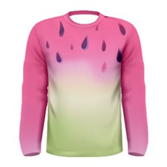 Watermelon Pastel Gradient Pink Watermelon Pastel Gradient Men s Long Sleeve Tee by genx