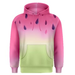 Watermelon Pastel Gradient Pink Watermelon Pastel Gradient Men s Pullover Hoodie by genx