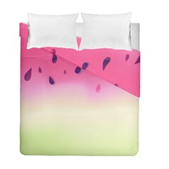 Watermelon Pastel Gradient Pink Watermelon Pastel Gradient Duvet Cover Double Side (full/ Double Size) by genx