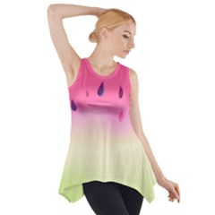 Watermelon Pastel Gradient Pink Watermelon Pastel Gradient Side Drop Tank Tunic by genx