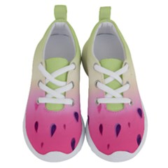 Watermelon Pastel Gradient Pink Watermelon Pastel Gradient Running Shoes by genx
