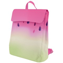 Watermelon Pastel Gradient Pink Watermelon Pastel Gradient Flap Top Backpack by genx