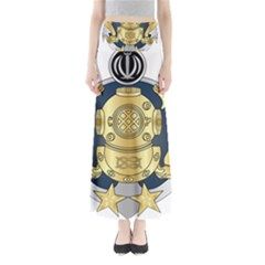 Iranian Navy Special Diver Second Class Badge Full Length Maxi Skirt by abbeyz71