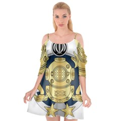 Iranian Navy Special Diver Second Class Badge Cutout Spaghetti Strap Chiffon Dress by abbeyz71