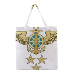 Iranian Navy Aviation Pilot Badge 1st Class Grocery Tote Bag by abbeyz71