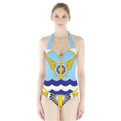 Official Insignia Of Iranian Navy Aviation Halter Swimsuit by abbeyz71