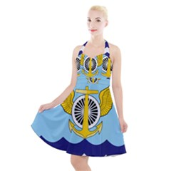 Official Insignia Of Iranian Navy Aviation Halter Party Swing Dress  by abbeyz71