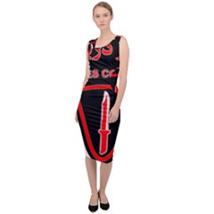 Marines Commando Of The Iranian Navy Badge Sleeveless Pencil Dress