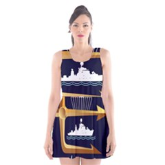 Iranian Navy Marine Corps Badge Scoop Neck Skater Dress by abbeyz71
