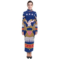 Flag Of The 20th Maine Volunteer Infantry Regiment Turtleneck Maxi Dress by abbeyz71