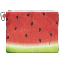 Juicy Paint Texture Watermelon Red And Green Watercolor Canvas Cosmetic Bag (xxxl) by genx