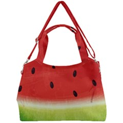 Juicy Paint Texture Watermelon Red And Green Watercolor Double Compartment Shoulder Bag by genx