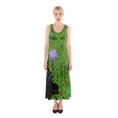Lily Pond Sleeveless Maxi Dress by okhismakingart