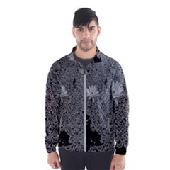Black And White Lily Pond Men s Windbreaker