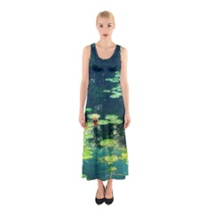 Lily Pond Ii Sleeveless Maxi Dress by okhismakingart