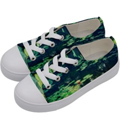 Lily Pond Ii Kids  Low Top Canvas Sneakers by okhismakingart