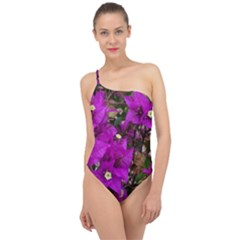 Bougainvillea  Classic One Shoulder Swimsuit
