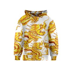 Chinese Dragon Golden Kids  Pullover Hoodie
