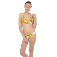 Chinese Dragon Golden Classic Banded Bikini Set