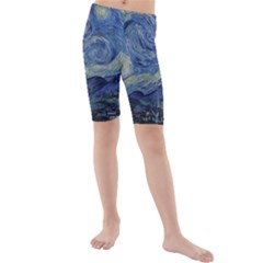 The Starry Night Starry Night Over The Rhne Pain Kids  Mid Length Swim Shorts