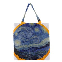 The Starry Night Starry Night Over The Rhne Pain Grocery Tote Bag