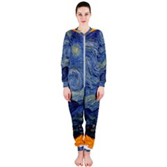 The Starry Night Starry Night Over The Rhne Pain Onepiece Jumpsuit (ladies)