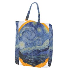 The Starry Night Starry Night Over The Rhne Pain Giant Grocery Tote