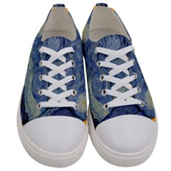 The Starry Night Starry Night Over The Rhne Pain Women s Low Top Canvas Sneakers