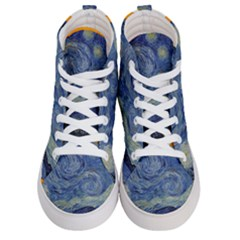 The Starry Night Starry Night Over The Rhne Pain Men s Hi Top Skate Sneakers