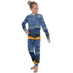 The Starry Night Starry Night Over The Rhne Pain Kids  Long Sleeve Set  by Sudhe