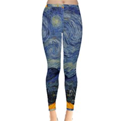 The Starry Night Starry Night Over The Rhne Pain Inside Out Leggings